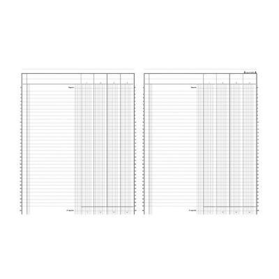 Registre comptable Le Dauphin piqûre 80 pages - format 24,5 x 31,5 cm à la francaise - 4 colonnes