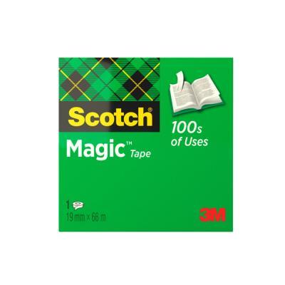Ruban adhésif invisible Scotch Magic grande longueur - 19 mm x 66 m - en boîte individuelle