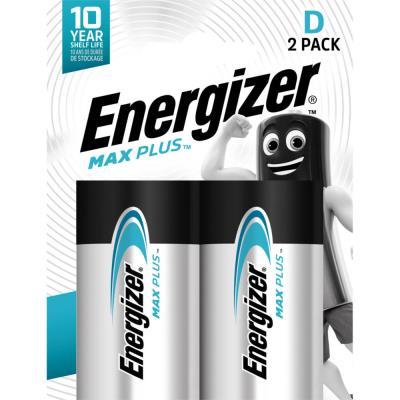Piles Energizer Max Plus - D - blister de 2 piles