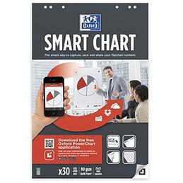 Recharge papier Oxford Smartchart pour tableaux et chevalets - 90g - 65 x 100 cm - quadrillé 25x25 - 20 feuilles (lot de 3) (photo)