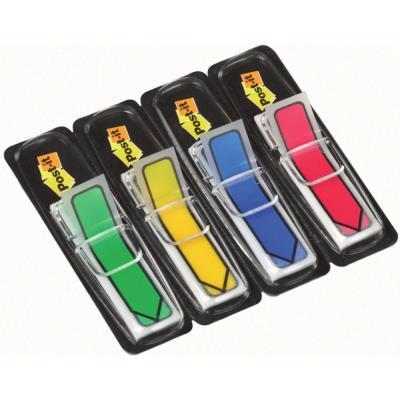 Set de 4 x 24 Index format étroit - impression flêche - 1,2 x 4, 4 cm - coloris assortis classiques