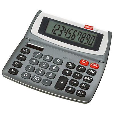 Calculatrice de bureau 550 - 10 chiffres (photo)