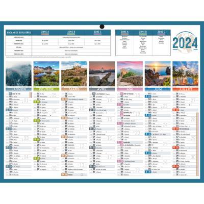 Calendrier bancaire Planète - 21 x 26 -5 cm - 2021