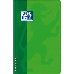 Carnet Oxford OPENFLEX reliure piqûre - 9x14cm - 96 pages 90g - 5x5 - Couverture polypro assortie (photo)