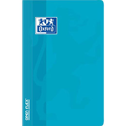 Carnet Oxford OPENFLEX reliure piqûre - 11x17cm - 96 pages 90g - 5x5 - Couverture polypro assortie (photo)