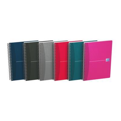 Carnet  Oxford Essentials A5 avec reliure à spirale double - 90 feuilles/180 pages - pageslignées - 90 g/m²