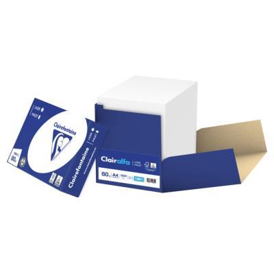 Papier Clairalfa - extra blanc - 80 g - A4 - box de 2500 feuilles