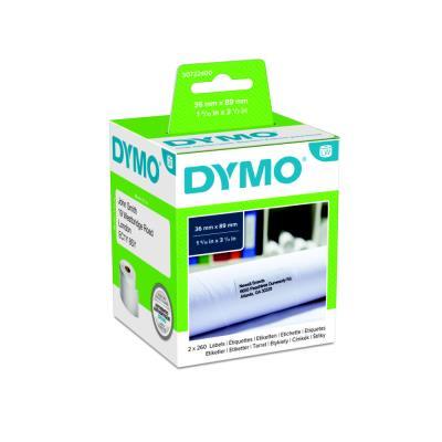 Etiquette adresse papier 36 x 89 mm Dymo S0722400 blanche - Boîte de 2 rouleaux de 260