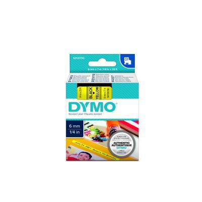 Rubans D1 Dymo 43618 - Ruban noir/jaune - 6 mm x 7 m