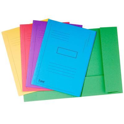 Chemise imprimée 2 rabats Exacompta Forever - carton comprimé recyclé 290g/m²certifié Ange bleu - format 24 x 32 cm - dos 2 cm - coloris assortis - paquet 50 unités