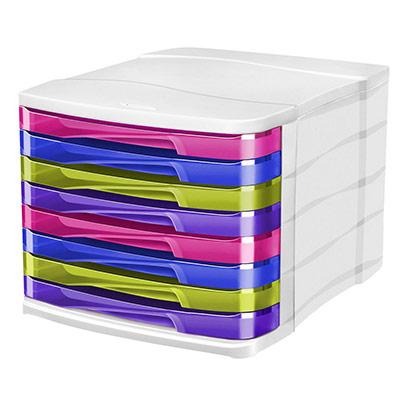 Module de classement 8 tiroirs Cep 398HM - 29,2 x 24,6 x 38,6 cm - multicolore