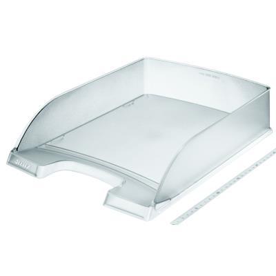 Bac à courrier Leitz Plus Standard - empilable - A4 - 255 x 357 x 70 mm - polystyrène - transparent
