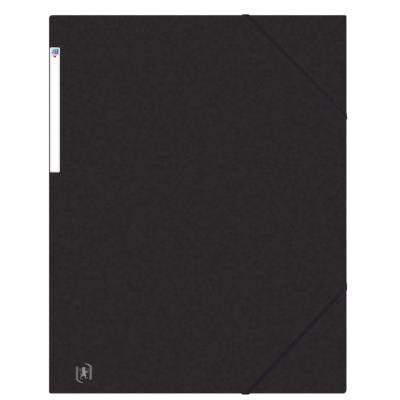 Chemises 3 rabats à élastiques Oxford Top File + A3 - noir