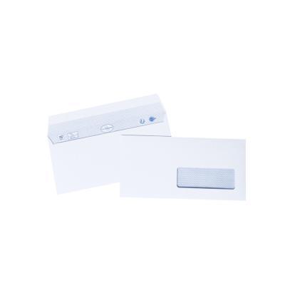 Enveloppe vélin La Couronne - format DL - 110 x 220 mm - avec fenêtre - 90 g/m² bande auto-adhésive - blanc - paquet 500 unités