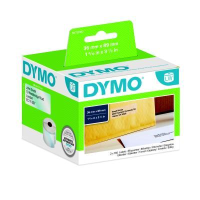 Rouleau 260 d'étiquettes adresses transparent pour Dymo Labelwriter - format 36 x 89 mm
