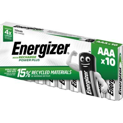 Pile rechargeable AAA / HR3 Energizer Power Plus - 700 mAh - lot de 10 accus