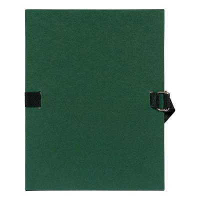 Chemise à dos extensible avec sangle - format 24 x 32 - qualité toilée - Coloris Vert foncé