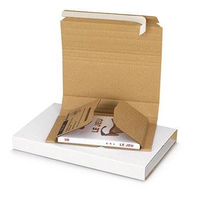 Étui emballage postal carton brun Raja - avec fermeture adhésive - 21 x 15 cm - livre/jeux-vidéo/photo (photo)