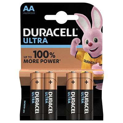 Piles AA - LR6 - Alcaline par 4 - 1.5V - Duracell Ultra Power