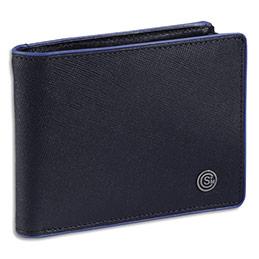 Portefeuille à l'italienne Viquel 'Louis Blanc' - 12,5 x 9,2 x 2,2 cm - bleu marine (photo)