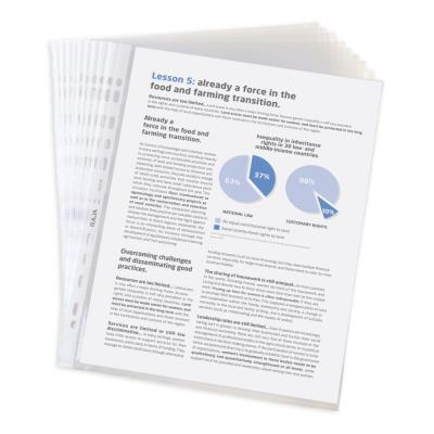 Pochettes perforées A4 - polypropylène lisse 5,5/100 - boîte de 100