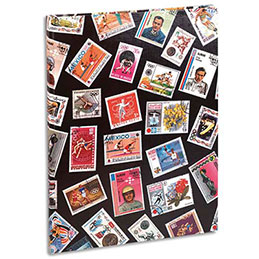 Album collection de timbres - 9 bandes / 16 pages - non rechargeable - 30,5x22,5 cm (photo)