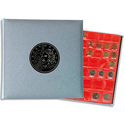 Album numismatique - capacité 215 pièces de monnaie - 5 intercalaires - 25x25 cm (photo)