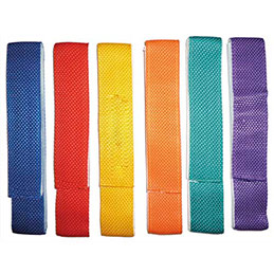 Lot de 6 liens de coordination en tissu 60cm x 4 cm, avec bande velcro couleurs assorties (photo)