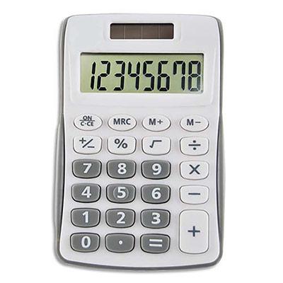 Calculatrice de poche 5 Etoiles 8 chiffres - Grise (photo)