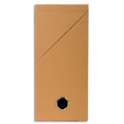 Boîte de transfert Exacompta - en carton rigide recouvert de papier toilé - dos 12 cm - havane