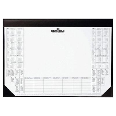 Sous-main calendrier - noir - 60 x 40 cm