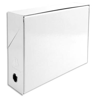 Boîte de transfert Exacompta - carte lustrée pelliculée - dos 9,5 cm - 34 x 26 cm - blanc