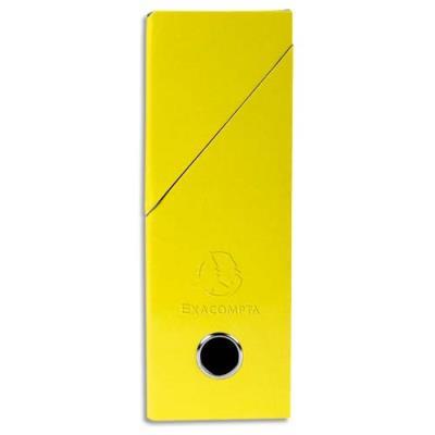 Boîte de transfert exacompta iderama carte lustrée pelliculée dos 95 cm 34 x 26 cm jaune