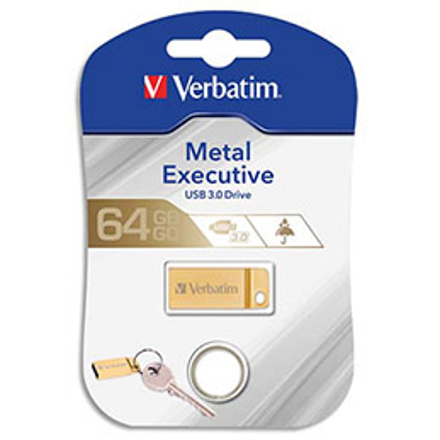 Clé USB 3.0 Verbatim Store'N'Go Mini Metal Executive Gold - 64Go