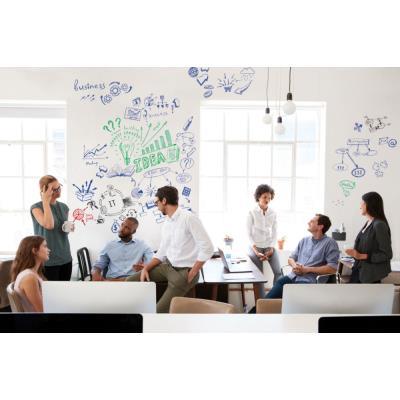 Film tableau blanc Lagemaster Wrap-Up - auto-adhésif et magnétique - H101 x L300 cm