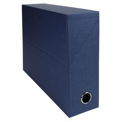 Boîte de transfert Exacompta - en carton rigide recouvert de papier toilé - dos 9 cm - bleu