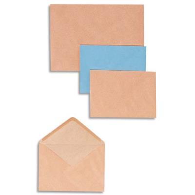 Boîte de 500 enveloppes Administrations GPV - format 114 x 162 mm (C6) - 72 g - coloris bleu (photo)