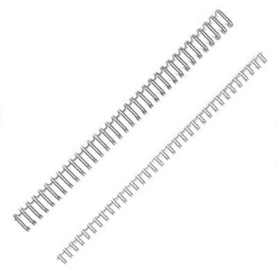 Baguette de reliure à spirale A4 - 8 mm - noir - boîte 100 unités