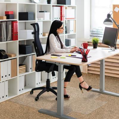 Tapis protège-sol en PVC 1er prixpour sol moquette - 121 x 92 cm + languettes 50 x 30 cm (photo)