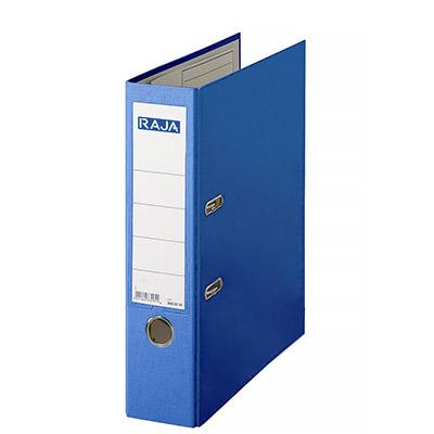 Classeur à levier Pergamy - en polypropylène extérieur/intérieur papier - dos 8 cm - bleu foncé