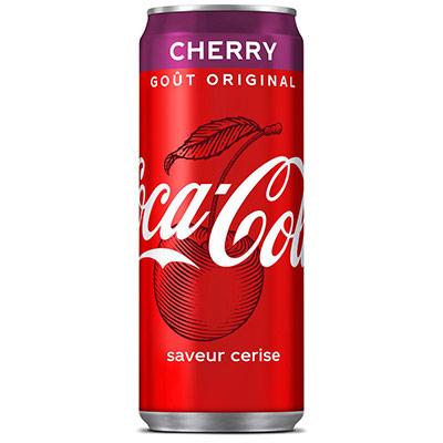 Coca-Cola Cherry - saveur cerise - canette de 33 cl (photo)