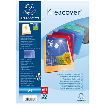 Protège document personnalisable Exacompta - PP Kreacover - 60 vues assortis (photo)