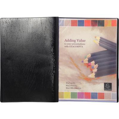 Protège-documents Exacompta Vega - 50 pochettes - noir