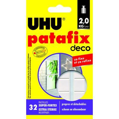 Etui de 32 pastilles UHU Patafix blanches Home Déco - résistance 2kg
