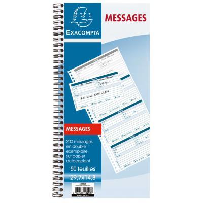 Carnet de 200 messages Exacompta -  29,7 x 14,8 cm