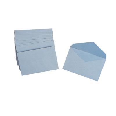 Enveloppe papier La Couronne - 90 x 140 mm - 70 g/m² bande auto-adhésive - bleu - paquet 1000 unités