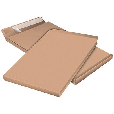 Pochette à soufflet 5 cm en kraft blond armé C4 - 229 x 324 mm 130g sans fenêtre - bande autoadhésive - paquet 50 unités (photo)