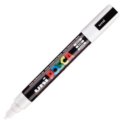 Marqueur peinture à l'eau Posca PC-5M - pointe conique polyester moyenne 2,5 mm - blanc