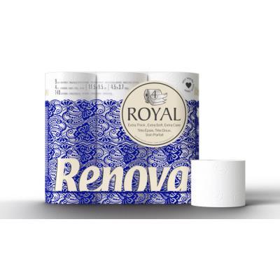 Papier toilette en rouleaux standard Royal - quadruple épaisseur - blanc - paquet 63 rouleaux