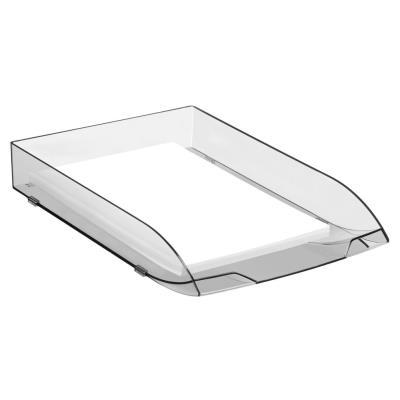 Corbeille à courrier Cep Ice Black- polystyrène choc brillant - format 27x6,5x37
